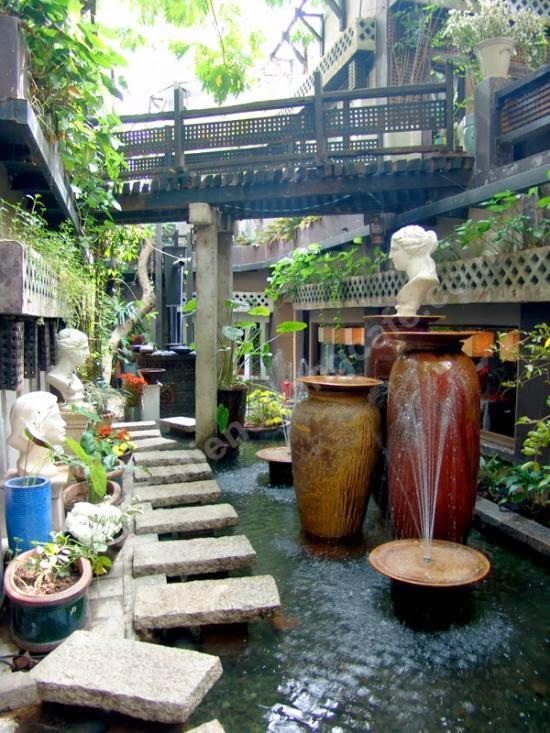 Thiết kế nội thất quán cafe sân vườn đẹp