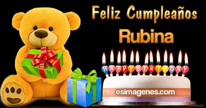 Feliz Cumpleaños Rubina