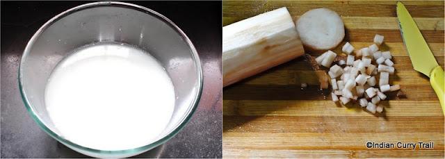 Banana-Stem-Mor-Kootu-Step1