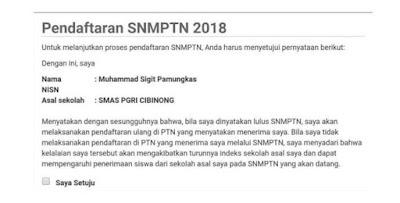 Pendaftaran SNMPTN 2019 Yusuf Studi