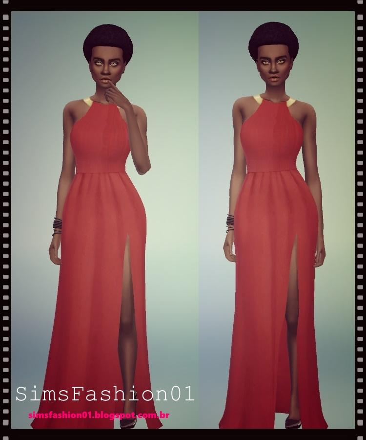 Sims Fashion01 Sims Fashion01 Long Dresses Slit Dress