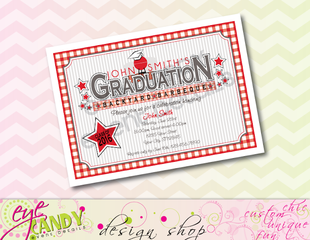 high school graduation party, class of, backyard bbq, grad party invite, cookout