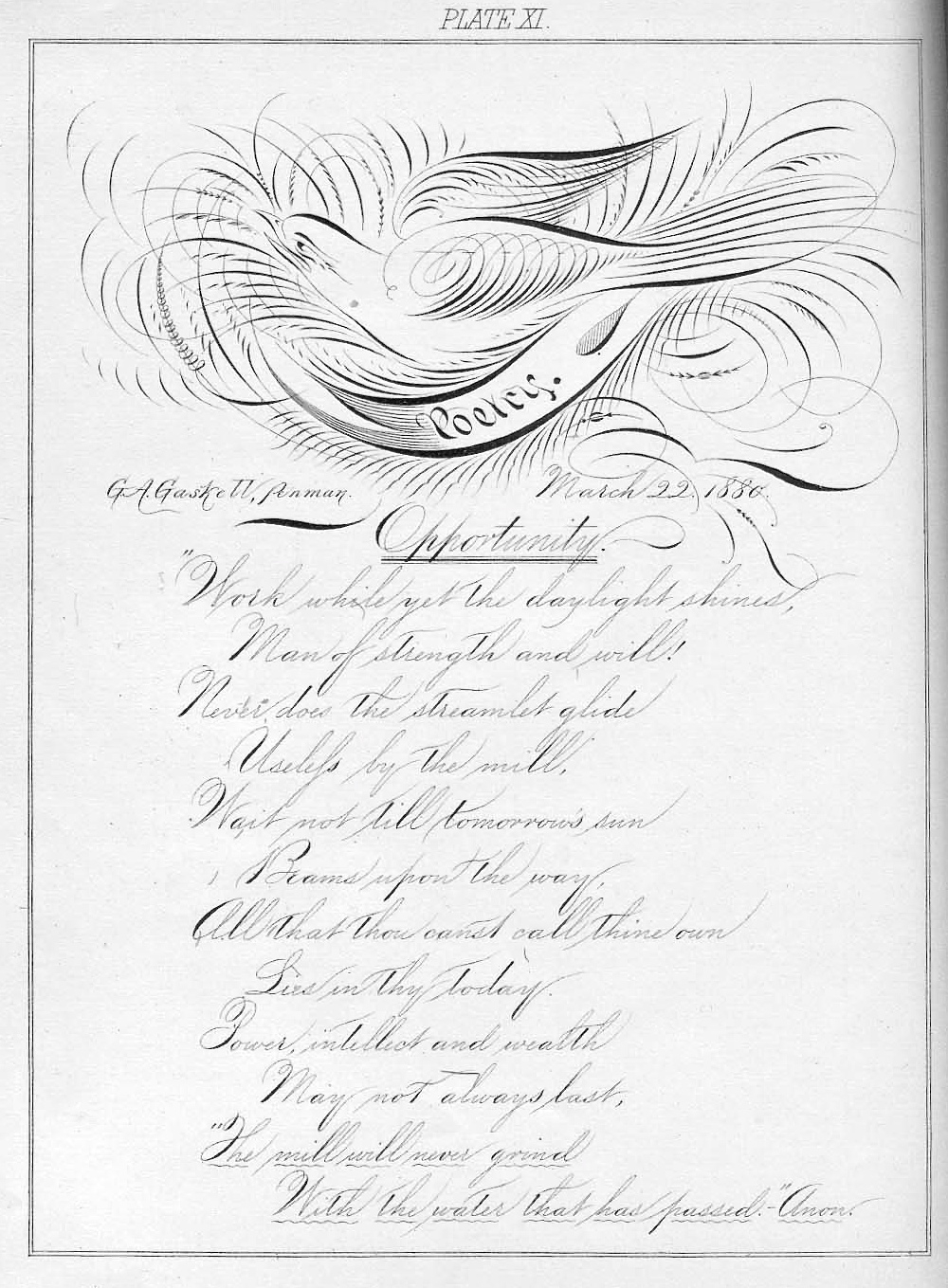 Tenth Letter of the Alphabet: Creator: Professor G.A. Gaskell