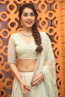 Raashi Khanan looks stunning in Crop Top Deep neck Choli Ghagra Transparent Chunni WOW ~  Exclusive Celebrities Galleries 088.JPG