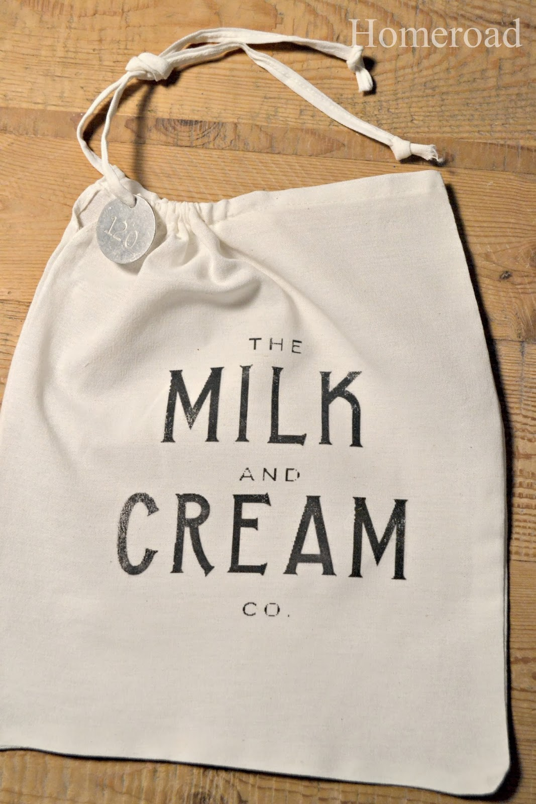 Milk and Cream Drawstring Bag