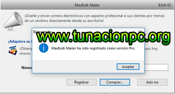 Descargar Maxprog MaxBulk Mailer Pro con Licencia