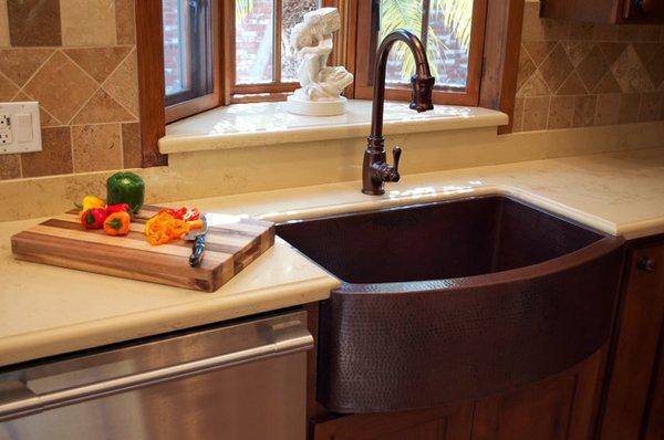 Copper Sink Design Ideas - Kitchen Faucet