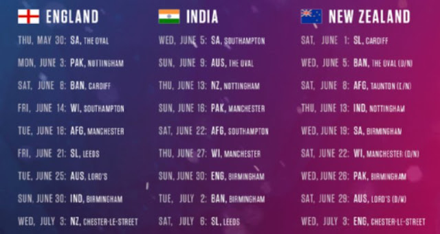 Icc Cricket World Cup 2015 Schedule Pdf Indian Time