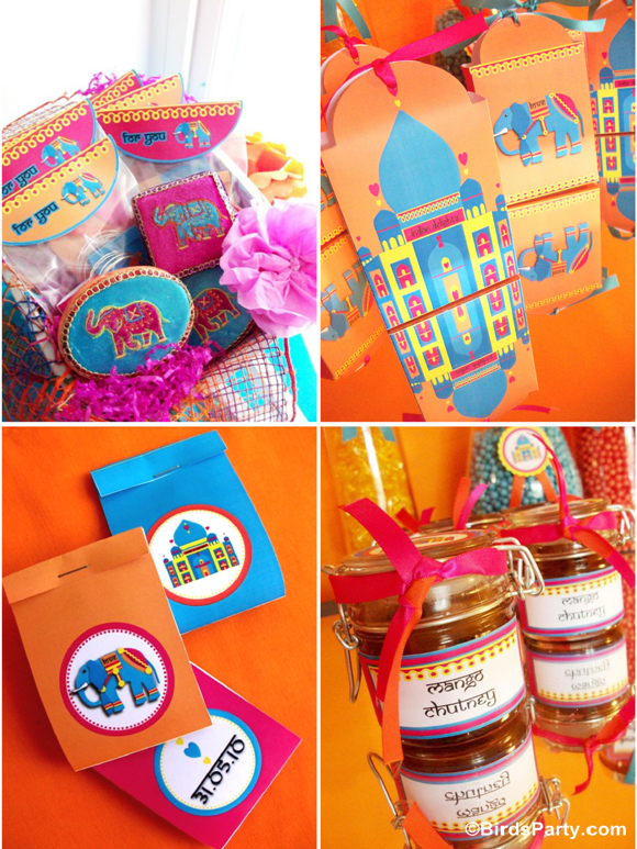 Bollywood Bling Indian inspired Party Favors Ideas - BirdsParty.com