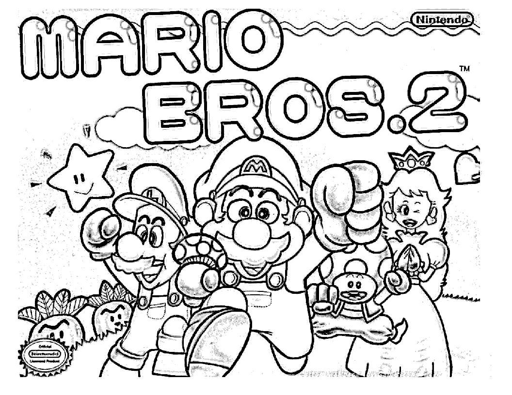 Dibujos De Super Mario Para Colorear E Imprimir 2: Blog MegaDiverso: Super Mario Bros Para Pintar Y Descargar