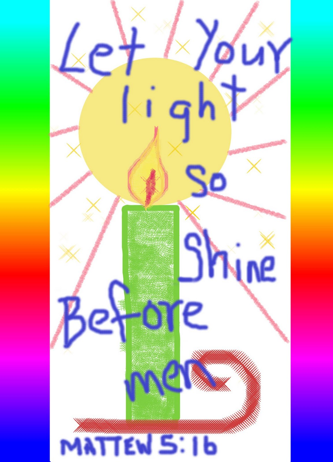Let There Be Light Coloring Page