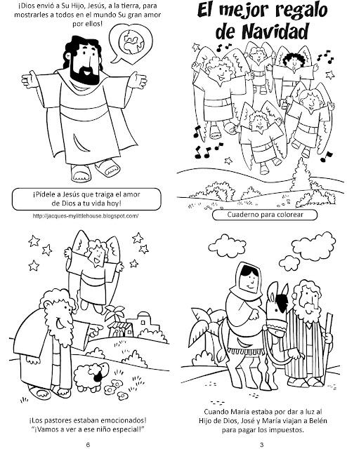 Para Colorear Historia De Navidad Para Colorear