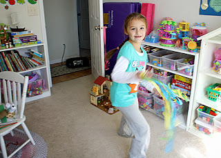 Tessa danced exuberantly during the Fly, Fly Away portion of the session.