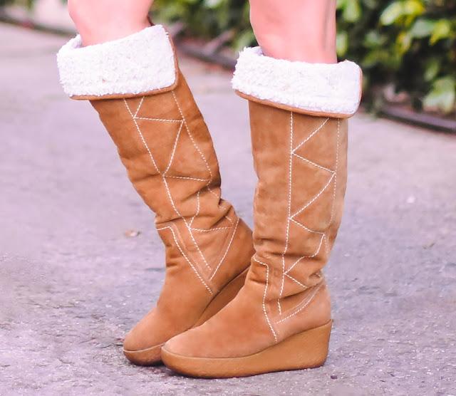 Michael Kors tan suede boots