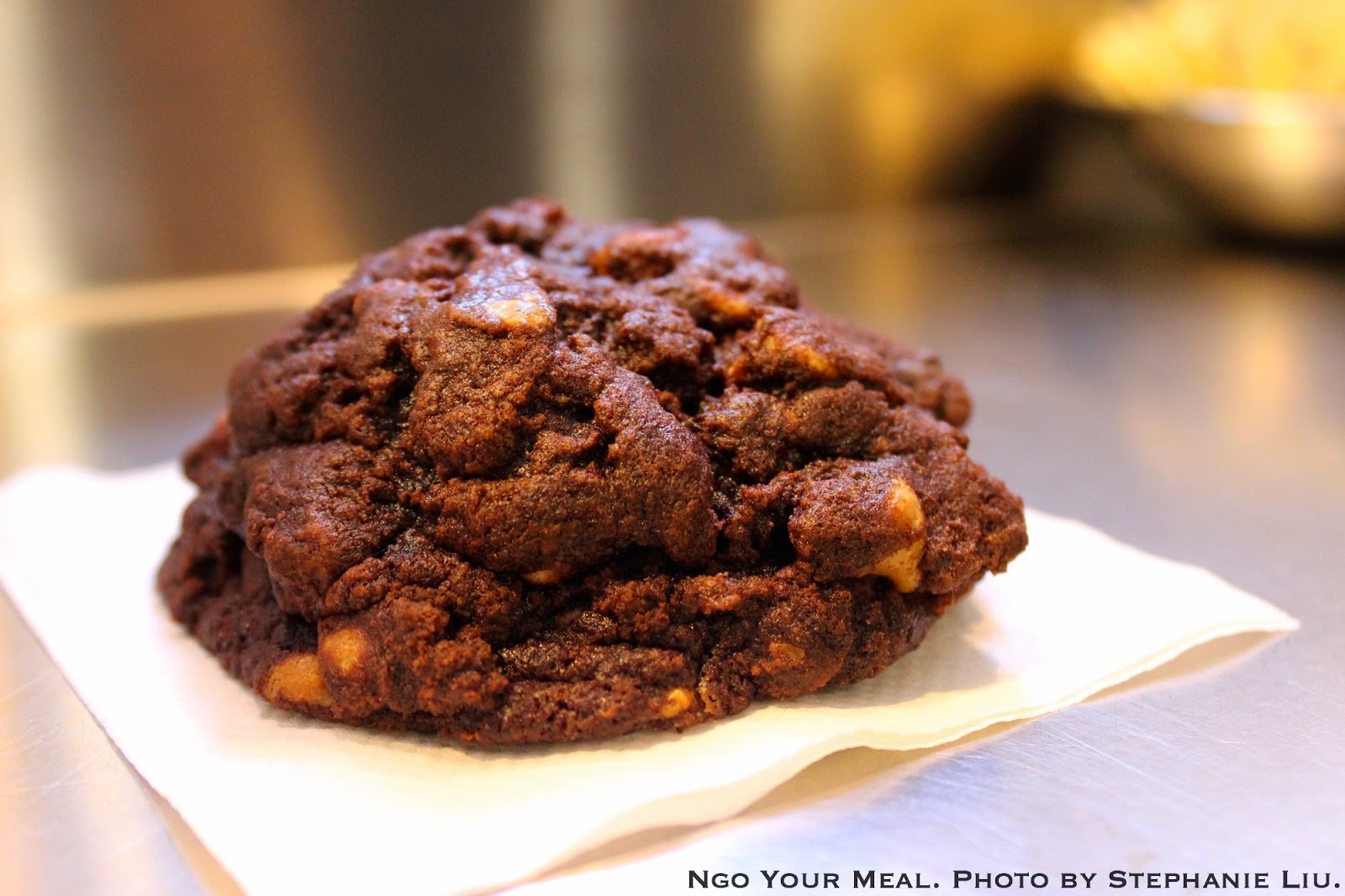 Dark Chocolate Peanut Butter Chip cookie at Levain Bakery