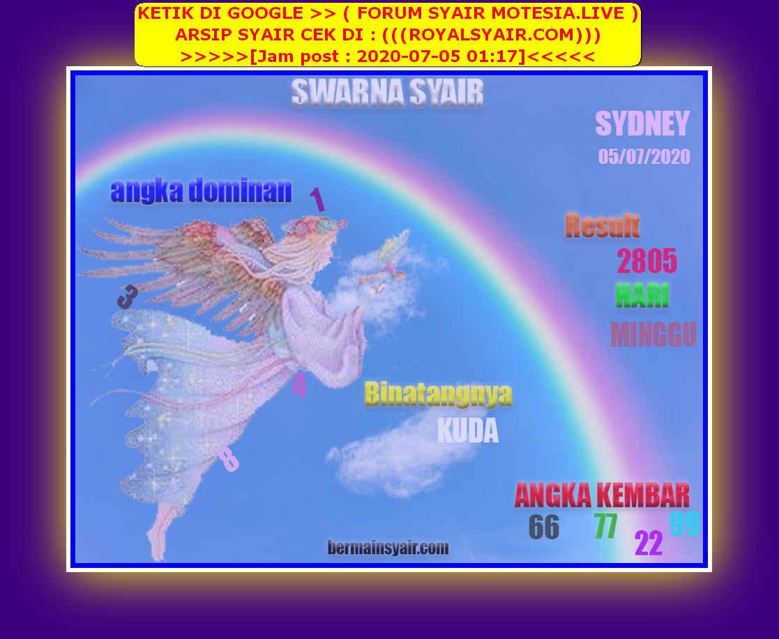 Kode syair Sydney Minggu 5 Juli 2020 219