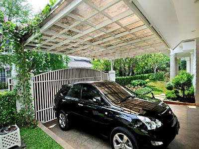 contoh carport minimalis yang cantik