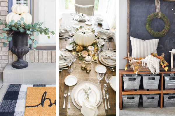 How to decorate in rustic farmhouse style for fall
