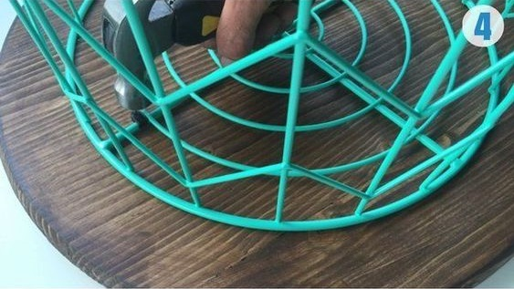 How to Make Wire Basket Side Table