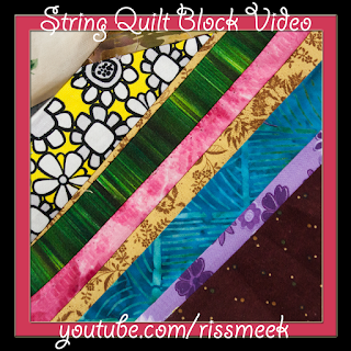 String Quilt Block How To Video @homeecmel