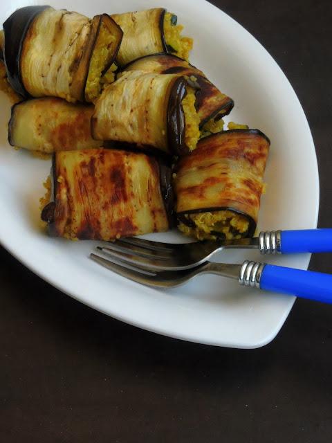 Eggplant rolls with Quinoa
