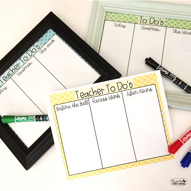 DIY Dry Erase To Do Lists for Teachers