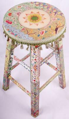 DIY Decoração - Capa Para Banquinho Redondo em Croche Com Barbante - Gráficos e Sugestões 36