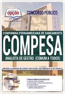 Apostila Concurso Compesa Analista de Gestão 2018
