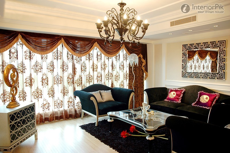 25 modern living room curtains design ideas 2016 living for Curtain designs living room