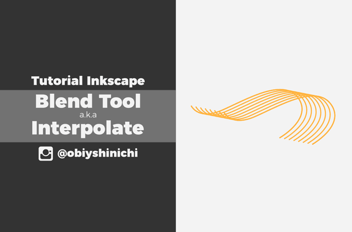 Blend tool ala Inkscape dengan Interpolate
