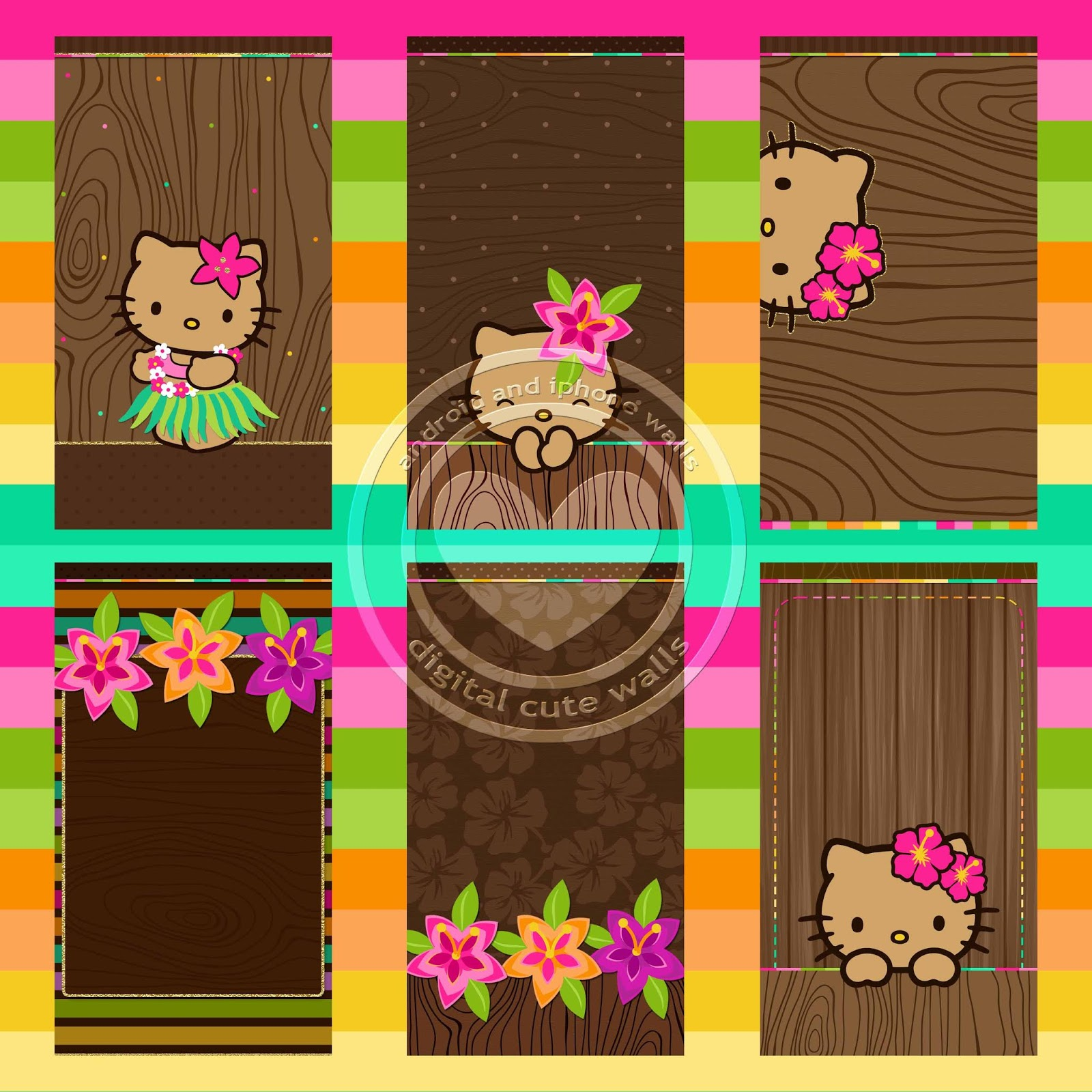 Hello Kitty Aloha Wallpaper Set