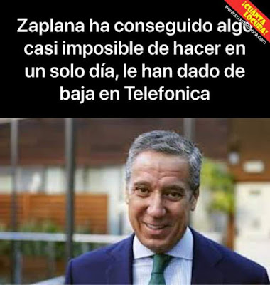 Zaplana ha conseguido algo casi imposible de hacer en un solo día, le han dado de baja en Telefónica