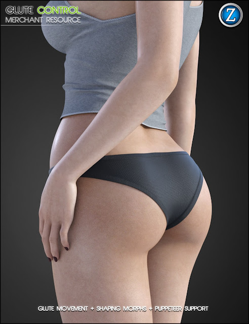 Glute Control for Genesis 8 Female Merchant Resource