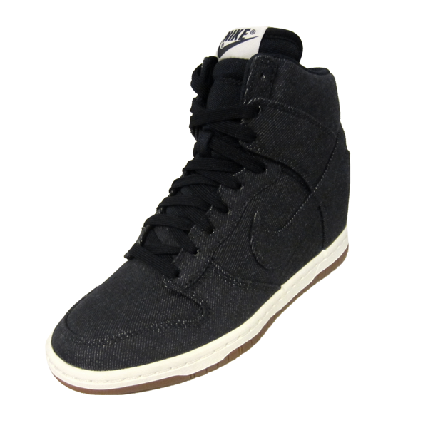 new arrival 6eeb1 1a03a Nike Womens Dunk Sky High Essential. Dark Obsidian, Dark Obsidian, Sail,  Gum, Midnight Blue. 644877-400