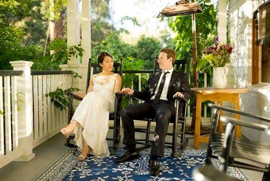 Facebook founder, Mark Zuckerberg and his wife, Priscilla, celebrate 5th wedding anniversay