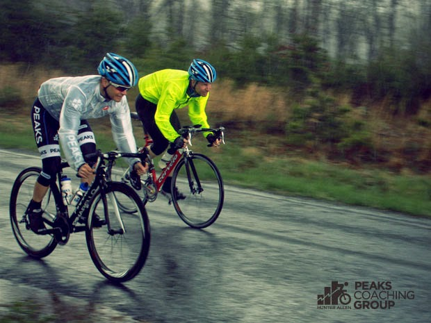 Peaks Coaching Group Racing and Riding in the Rain