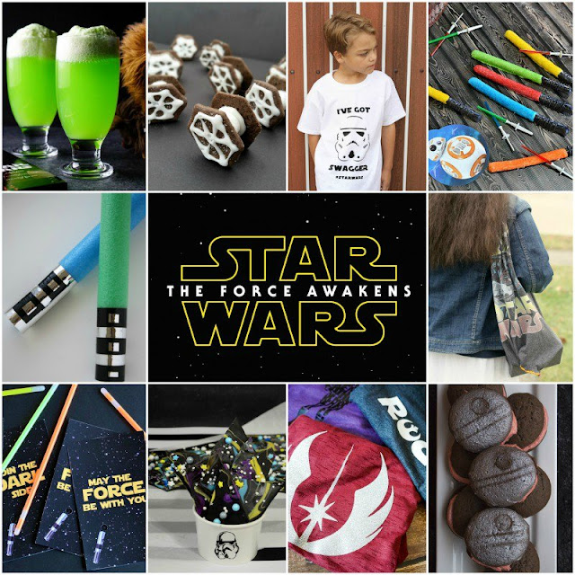 Food, crafts, and ideas inspired by Star Wars The Force Awakens #BlockbusterBloggers