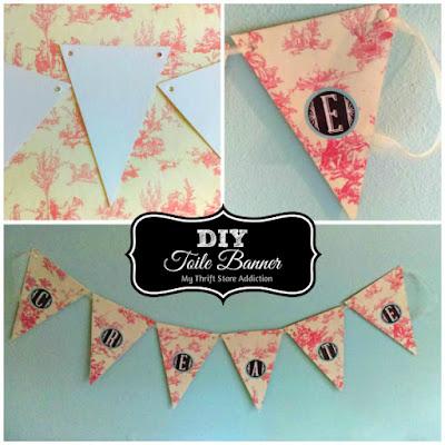 DIY toile banner