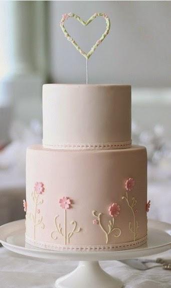 torta de bodas de dos pisos   la novia y bodas