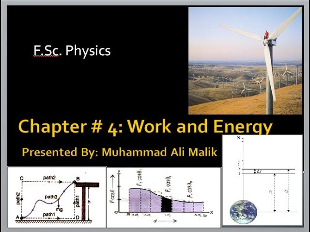 Chapter # 4: (F Sc  Physics 1st Year) Work and Energy, COMPLETE