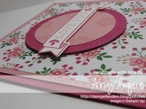 "http://stempelkeuken.blogspot.com 2 1/2"" Circle Punch, 2"" Circle Punch, Bloomin' Love, Blushing Bride, Large, Love Blossoms, Piercing Tool, Rose Red, Whisper White,"