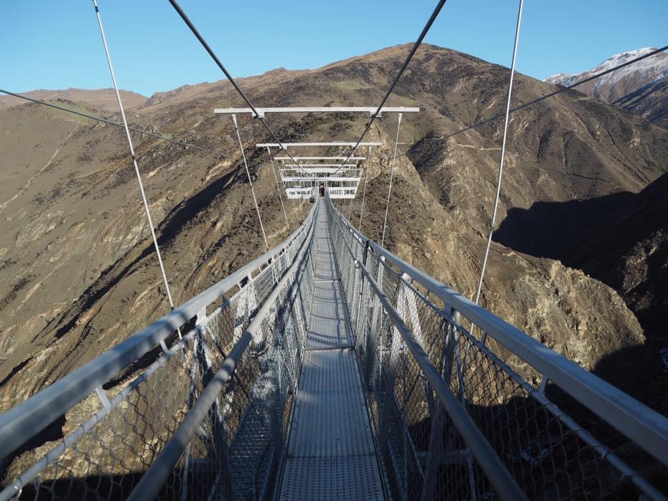 Bridge over to world's biggest swing