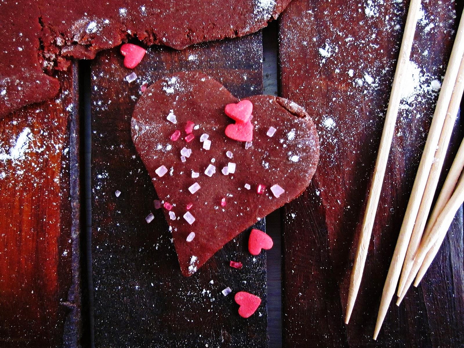 Schokoladige Sugar-Cookies roh