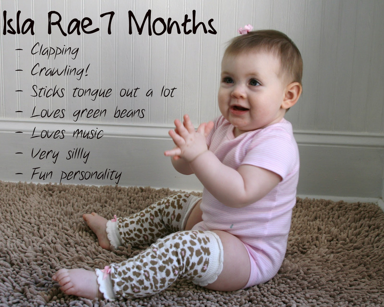 Rock  bye bradbury baby milestones isla months old also month rh cheapairjordans