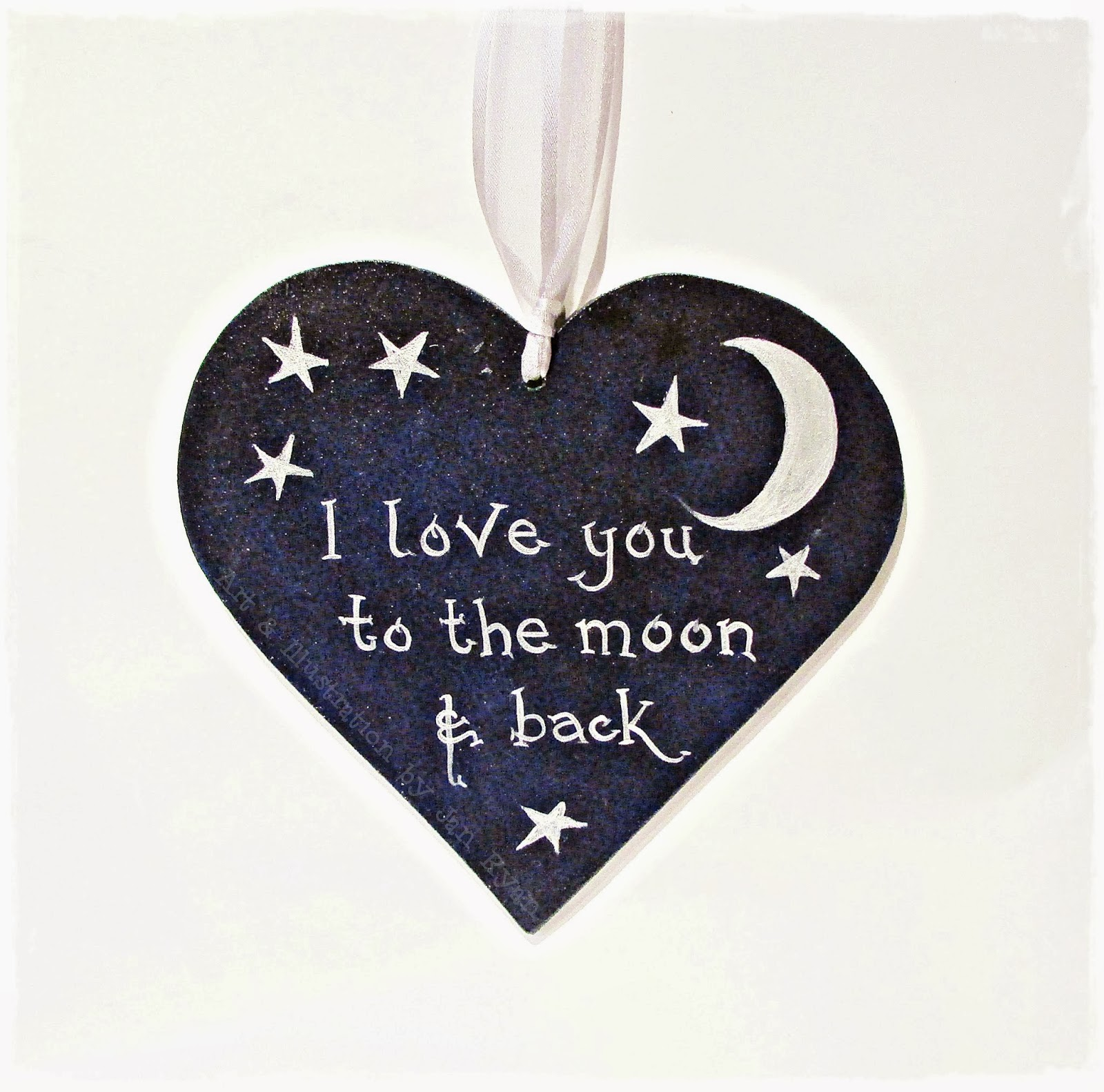 I Love You To The Moon And Back: Handcrafted By Picto: I Love You To The Moon & Back