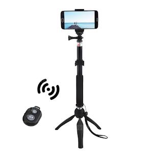 عصا سيلفي ذات نظام بلوتوث وارجل تتبيث Selfie Stick Bluetooth