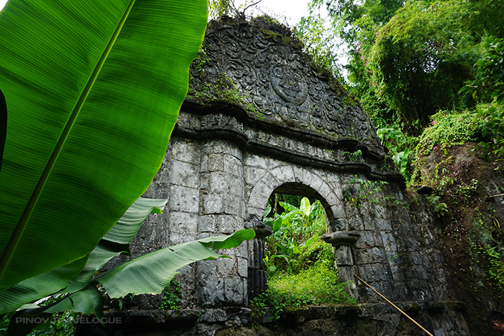 Arch built on top of St. Lucia's Wells