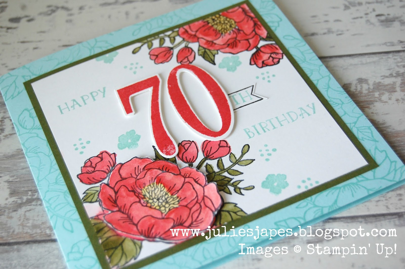 Julie kettlewell stampin up uk independent demonstrator order the flowers also got a bit of the wink of stella treatment you can just see the sparkle on the last photo izmirmasajfo