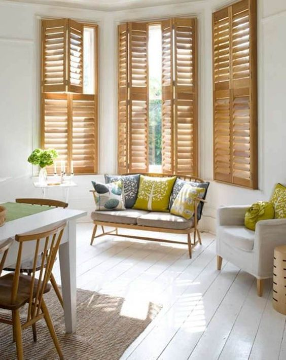 modern beech wood shutters ideal security