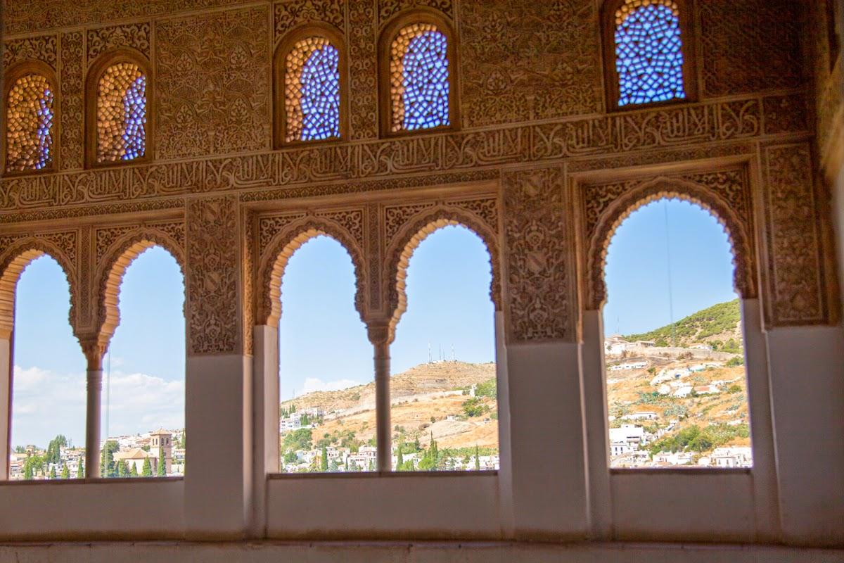 arquitectura árabe en la Alhambra de Granada